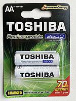 Аккумуляторы АА TOSHIBA Ni-MH 1.2V 2600mAh  2 шт TNH-6GAE BP-2C, пальцы