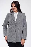 Женский осенний серый деловой большого размера жакет Femme & Devur 70094 1.50BF 52р.