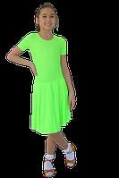 Платье рейтинговое АККУ Цвет Неон Лайм Размер 30 Материал Полиамид
