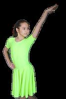 Платье рейтинговое АККУ Цвет Неон Салатовый Размер 32 Материал Полиамид