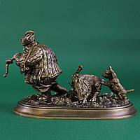 Удачливый охотник. Россия, современная коллекционная работа из бронзы.
