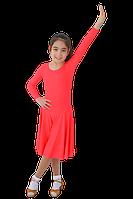 Платье рейтинговое АККУ Цвет Неон Коралл Размер 32 Материал Полиамид