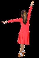 Платье рейтинговое АККУ Цвет Неон Коралл Размер 38 Материал Полиамид