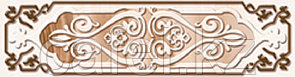 Кафель | Плитка настенная 25х35 Эллада | Ellada розовый бордюр В