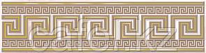 Кафель | Плитка настенная 25х35 Эллада | Ellada розовый бордюр В1