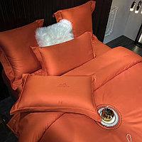 Комплект постельного белья двуспальный HERMES однотонное жаккард LUX