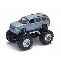Welly Модель машины 1:34-39 Chevrolet Tahoe Big Wheel - голубая