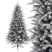 Kaemingk: Ель новогодняя заснеженная Вермонт/Vermont 210 см, 1604 ветки