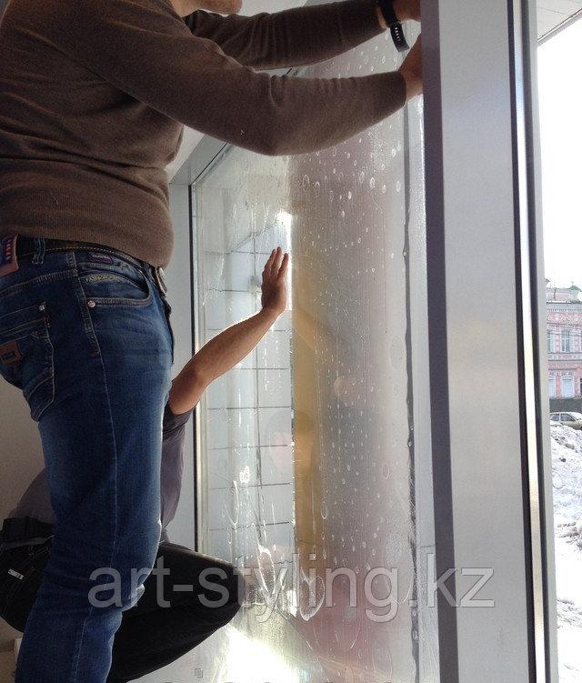 Укрепление стекол защитной пленкой с достижением класса защиты А3