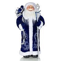 Star Trading AB: Декорация Дед Мороз в сине-белой шубе 45 см