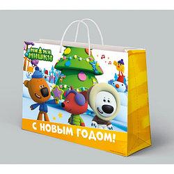 """Подарочный пакет Бумажный """"Ми-ми-мишки. С Новым Годом!"""", 46х61х20 см."""