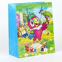 """Подарочный пакет Бумажный """"Кеша"""", 33x46х20 см."""
