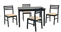 Столовый комплект Пилар венге 1,10 + 4 стула. Малайзия