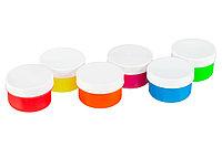 Флуоресцентные пальчиковые краски от 3-х лет, набор 6 цветов по 60 мл. + обучающая брошюра