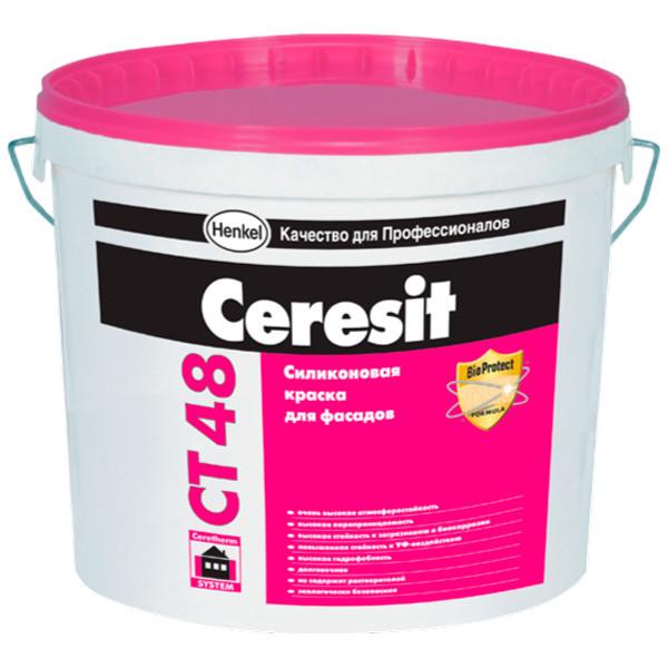 Ceresit CT 48 Силиконовая краска для внутренних и наружных работ, 22,5 кг