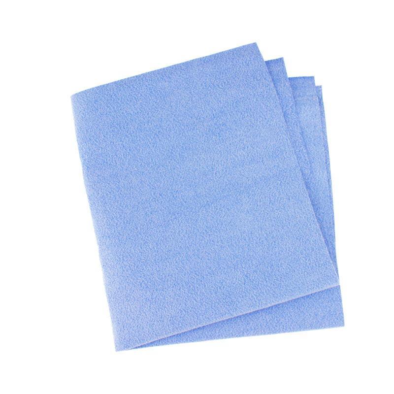 Искусственная замша синяя перфорированная 300 гр/м2