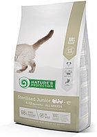 Сухой корм для стерилизованных котят Nature's Protection Sterilised Junior Poultry&Krill птица с крилем