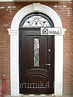 Входные двери с накладкой из МДФ и стеклом