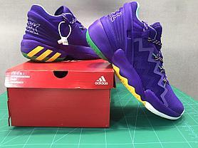 "Баскетбольные кроссовки Аdidas D.O.N. Issue #2 ""Purple"" (40-46), фото 3"