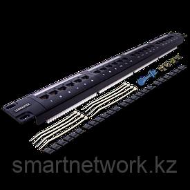 Патч-панель LANMASTER 24 порта, UTP, кат.6, 1U