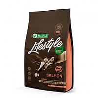 Сухой корм для котят всех пород Nature's Protection Lifestyle Grain Free Kitten Salmon с лососем
