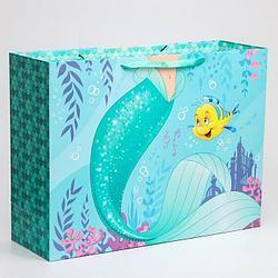 """Подарочный пакет Бумажный """"Принцессы. Русалочка"""", 61х46х20 см."""