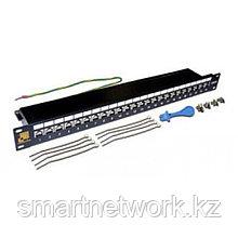 Патч-панель LANMASTER 24 порта, STP, кат.6A, 1U