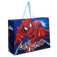 """Подарочный пакет Бумажный """"Супер-подарок: Великий Человек-паук"""", 61х46х20 см."""