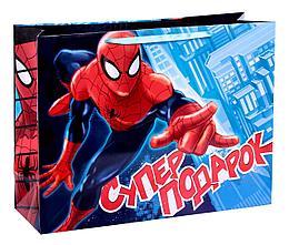 """Подарочный пакет Бумажный """"Супер-подарок: Человек-паук"""", 61х46х20 см."""