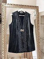 Камзол женский кожаный черный