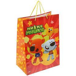"""Подарочный пакет Бумажный """"Ми-ми-мишки"""", 33х46х20 см."""