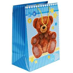 """Подарочный пакет Бумажный """"Мишка"""", 33x46х20 см."""