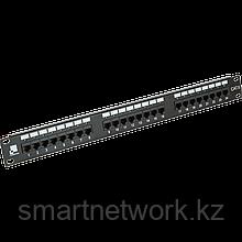 Патч-панель LANMASTER 24 порта с индикаторами, UTP, кат.6, 1U