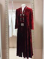 Камзол женский панбархат макси красный