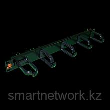 """Кабельный органайзер 19"""" со съемными пластиковыми кольцами, 1U"""