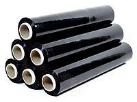Черная Стрейч пленка ручная 20 мкр. Ширина 500 мм. Намотка 200 м. Сделано в России. Стретч пленка.