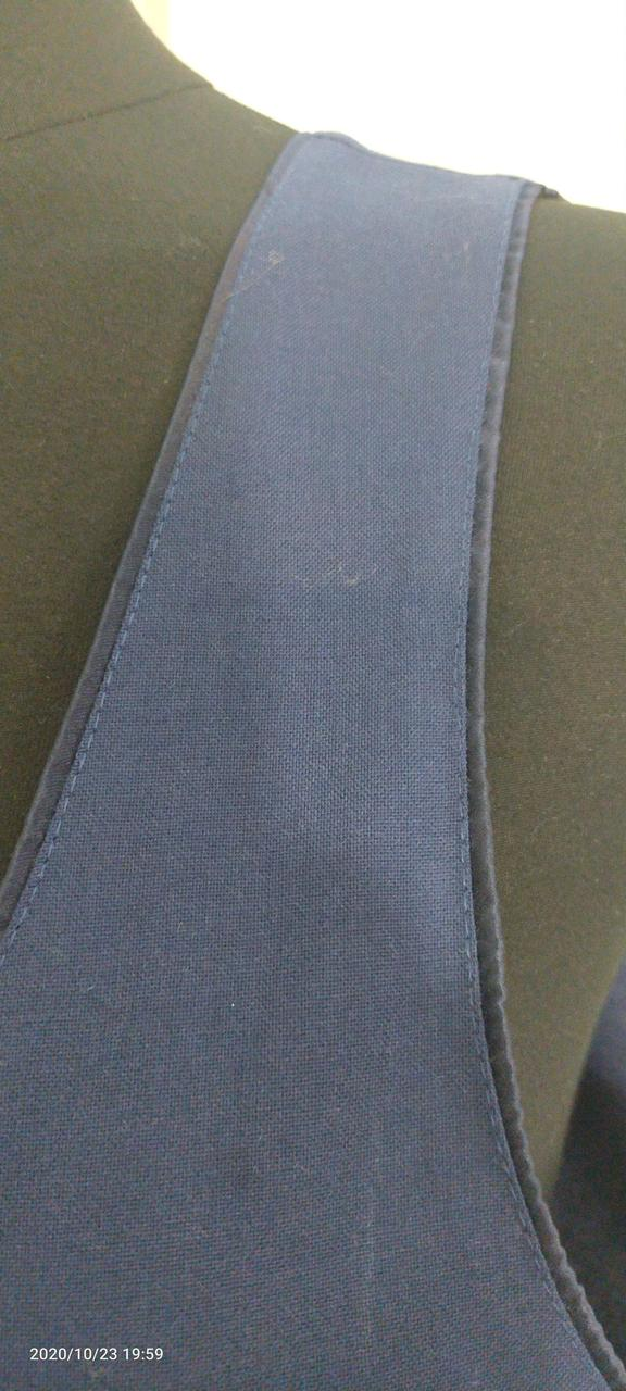 Синий прямой сарафан - фото 2