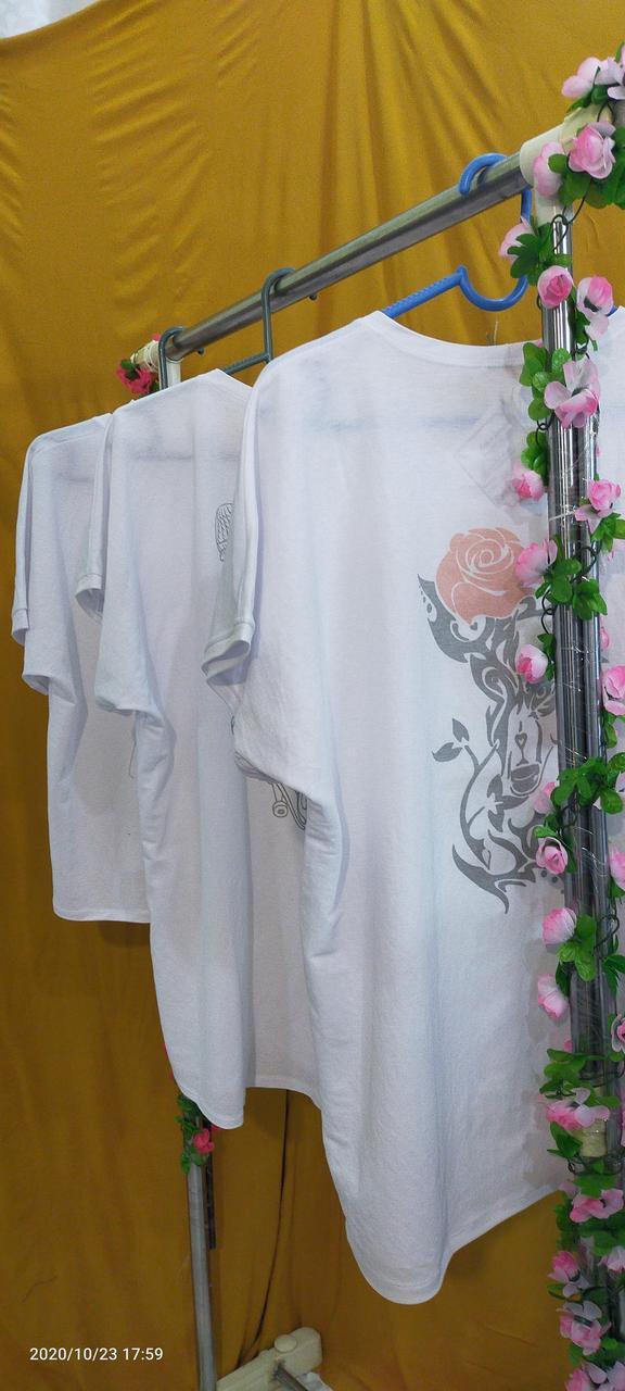 Белые футболки оверсайз - фото 4