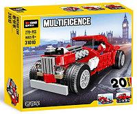 31010 Конструктор Multificence красная ретро машина 278 дет 20 моделей можно собрать 31*26см, фото 1