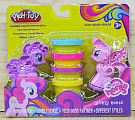 SM8010 Пластилин Пони Play-Toy 2 фигурки пони + 4 плстилин 20*18см