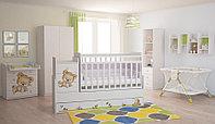 Кроватка-трансформер детская Фея 1100 медежонок белый