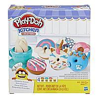 """Пластилин Игровой набор """"Выпечка и пончики"""" Play Doh, фото 1"""