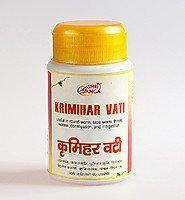 Кримихар вати антипаразитарное средство Krimihar Vati Sri Ganga, 50гр (около 120таб)