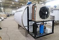 Горизонтальный охладитель молока закрытого типа из нержавеющей стали 2000 литров