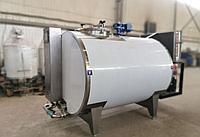 Закрытый горизонтальный молокоохладитель (нержавеющая цистерна) 1000 литров