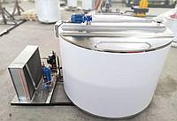 Открытый танк охладитель молока вертикального типа из нержавеющей стали 3000 литров