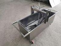 Нержавеющая тележка творожная (пресс-тележка) 200 литров
