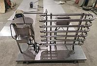 Предохладитель проточный для жидких продуктов 8 колен 2270х200мм