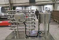 Горизонтальный теплообменник трубчатый для воды и молока 10 колен 2270х200мм