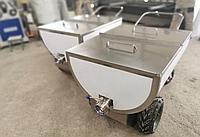 Ванна кормовая для приготовления и развоза корма с электроприводом 250 литров
